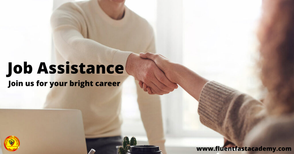Job assistance in a foreign language